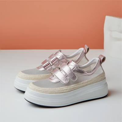 2021新作 2色 メーシュ厚底シューズ 幅広い 履き心地 大人の可愛い靴