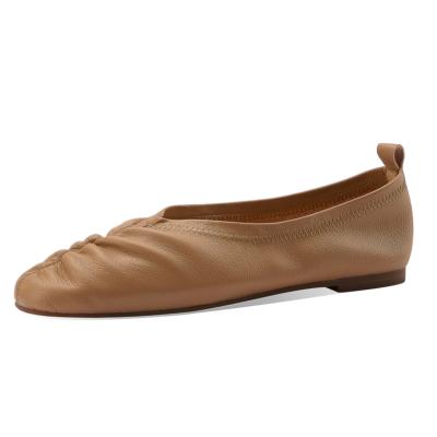 本革 フラットシューズ 歩きやすい靴 ぺたんこシューズ