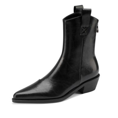 ブラック ヴィンテージ レディース ウエスタンブーツ 本革 レザー cowboy 靴 古着 アンクルブーツ-style2