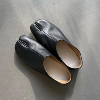 本革 ブラック 足袋 人気靴 歩きやすい フラットシューズ