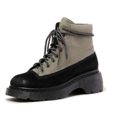 グリーン 登山靴 カップルシューズ スエード 旅行 レースアップ ブーツ 遠足 ハイキング